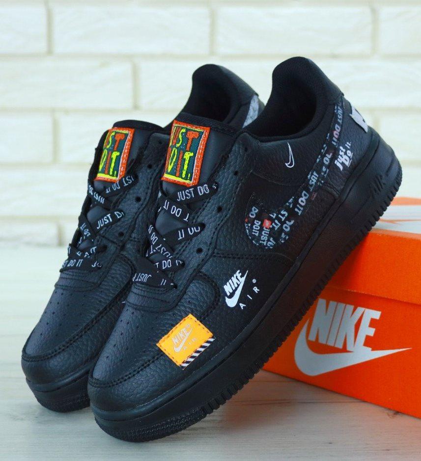 "Мужские Кроссовки Nike Air Force 1 Low ""Just Do It"" Black"