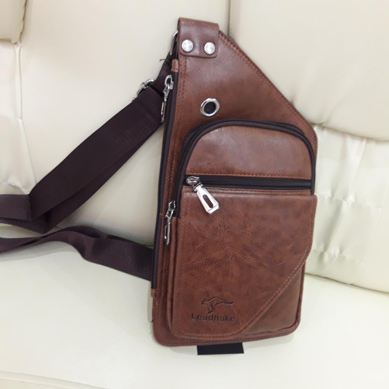 Мужской городской рюкзак на одно плечо мини стильный