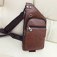 Мужской городской рюкзак на одно плечо мини стильный, фото 1
