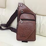 Мужской городской рюкзак на одно плечо мини стильный, фото 3