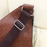 Мужской городской рюкзак на одно плечо мини стильный, фото 5