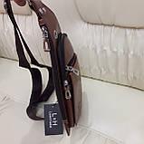 Мужской городской рюкзак на одно плечо мини стильный, фото 6