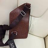 Мужской городской рюкзак на одно плечо мини стильный, фото 7