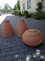 Светильники напольные из лозы разной формы