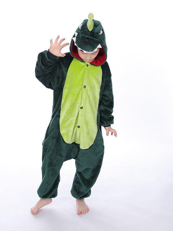 Дитячий кигуруми зелений дракон kcr0040