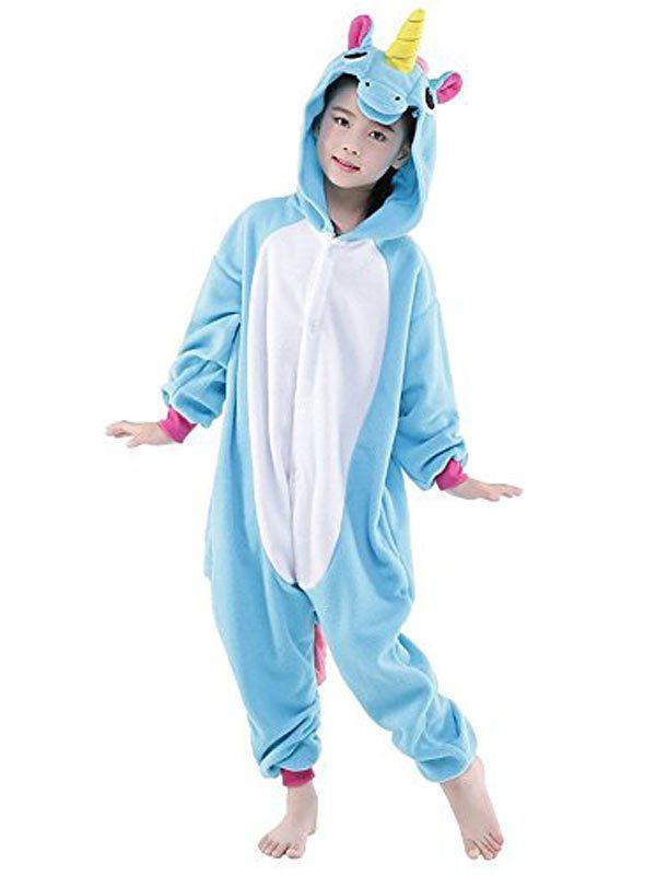Детская пижама кигуруми Единорог голубой MNC kcr0047