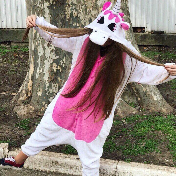 Пижама кигуруми Единорог Бело-малиновый MNC kcr0072