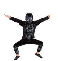 Карнавальный костюм Человека - паука черный, велюр
