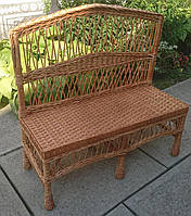 Скамейка лавка плетеная