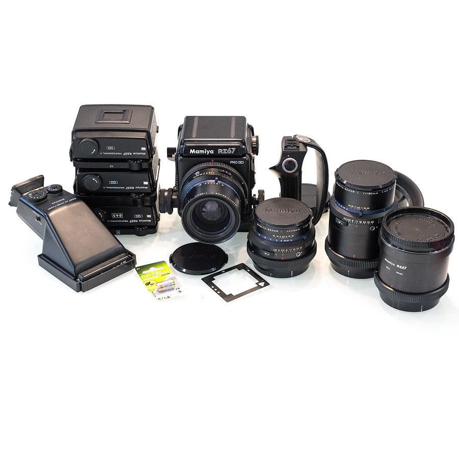 Среднеформатная пленочная камера Mamiya RZ67 Pro II D + комплект объективов и аксессуаров.