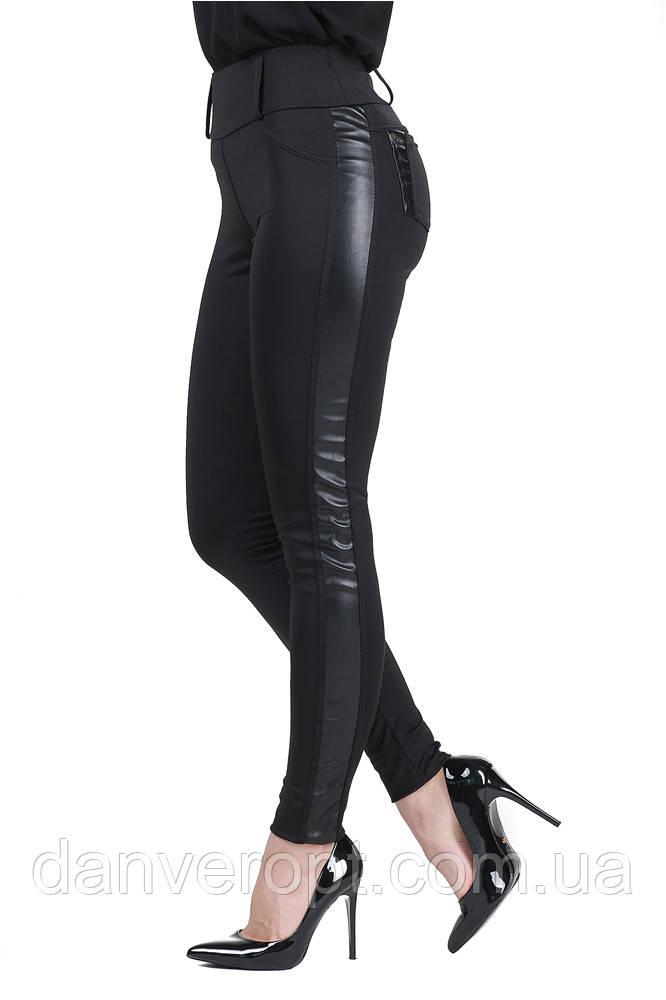 Лосины женские модные стильные с лампасами размер S-XL купить оптом со склада 7км Одесса