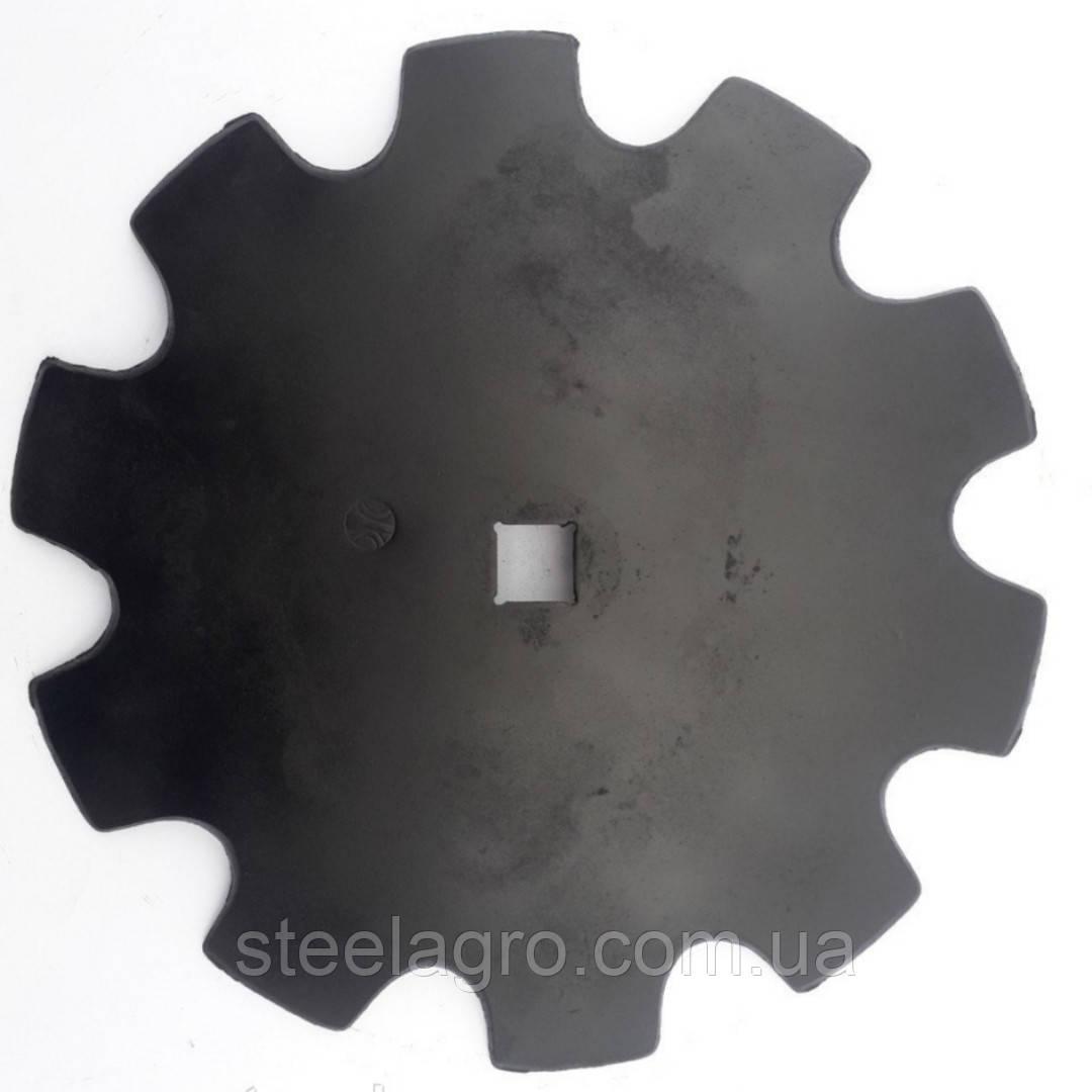 Диск Bomet (U363) вырезной 460мм кв.31; 510мм кв.33мм Z10 s-4мм (ст65Г,бористая)