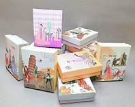 Подарочная коробочка для украшений маленькая 12 шт. [9/7/3 см] В1-5
