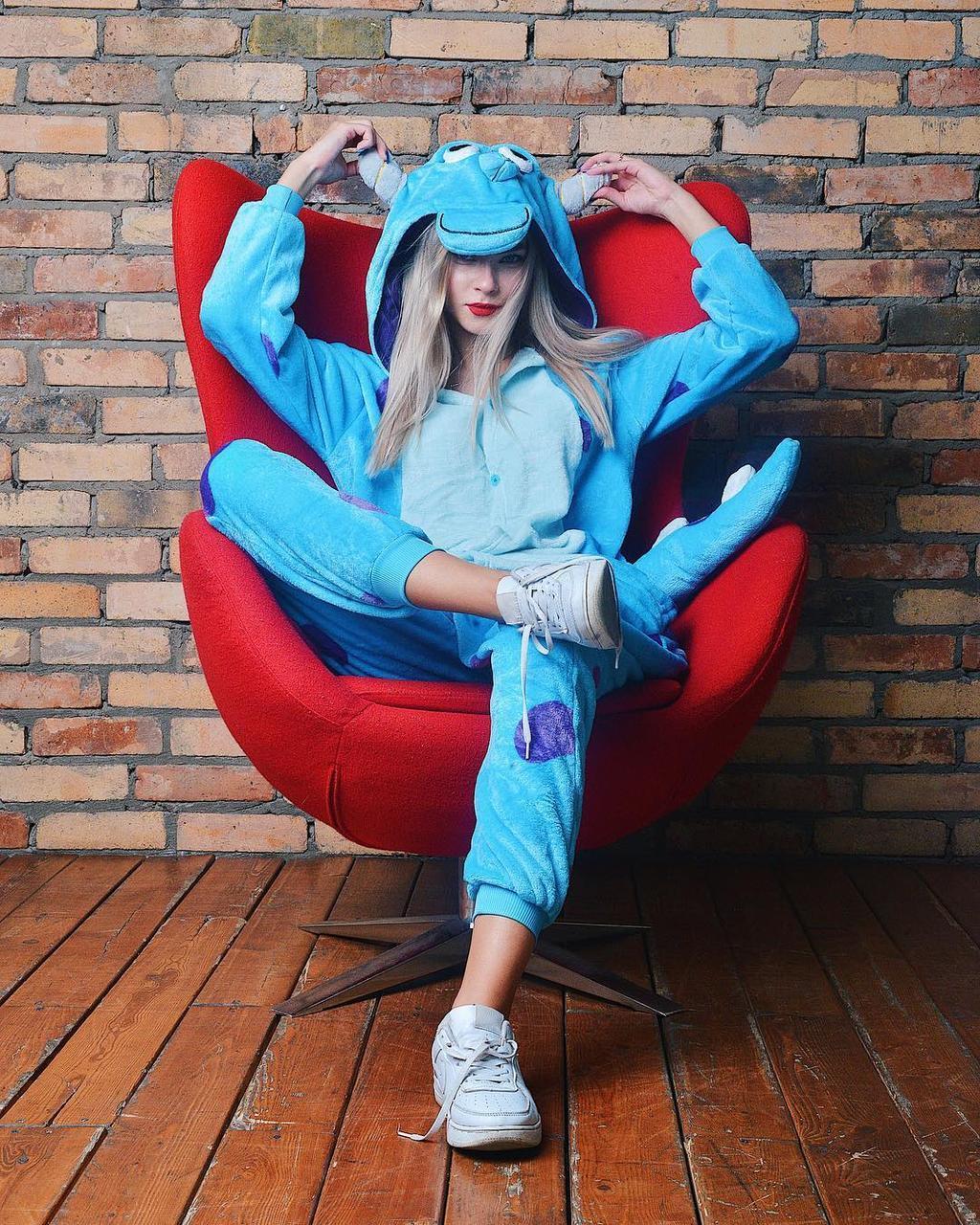 Костюм кигуруми Салли голубой (пижама) kmu0021