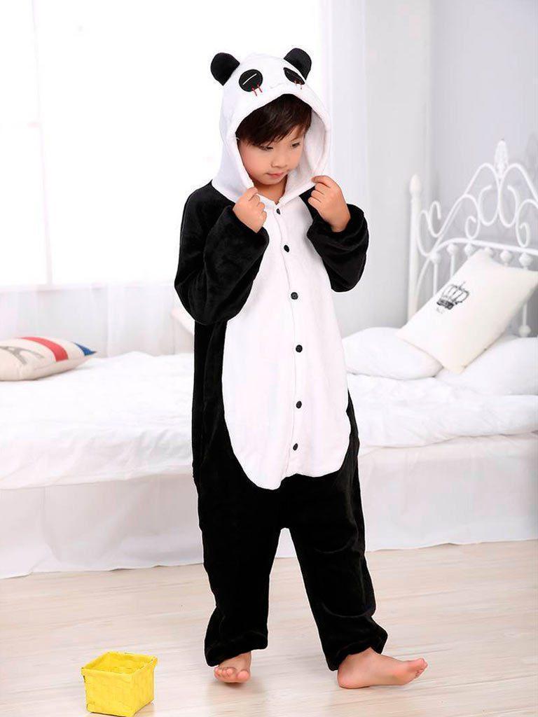 Кигуруми панда черно-белый (детская) kmu0046