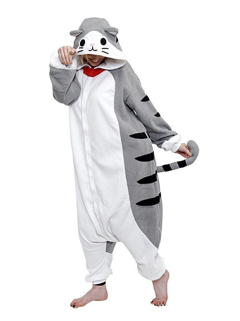 Кигуруми серый Tabby Cat (пижама) krd0027