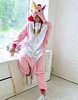 Взрослый кигуруми розовый единорог (пижама) kmu0014