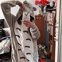 Кигуруми серый Тоторо  (пижама) kmu0019