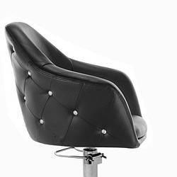 Парикмахерские кресла для клиентов с гидравлическим подъемом на хромированном пятилучье НС-547К