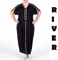 Модное молодёжное платье прямого силуэта с цельнокроеным рукавом батал с 48 по 82 размер, фото 2