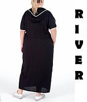 Модное молодёжное платье прямого силуэта с цельнокроеным рукавом батал с 48 по 82 размер, фото 3