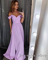Вечерние платья (6 цветов, ткань - креп костюмка) Размер S, M, L (ОПТ от 10 шт)