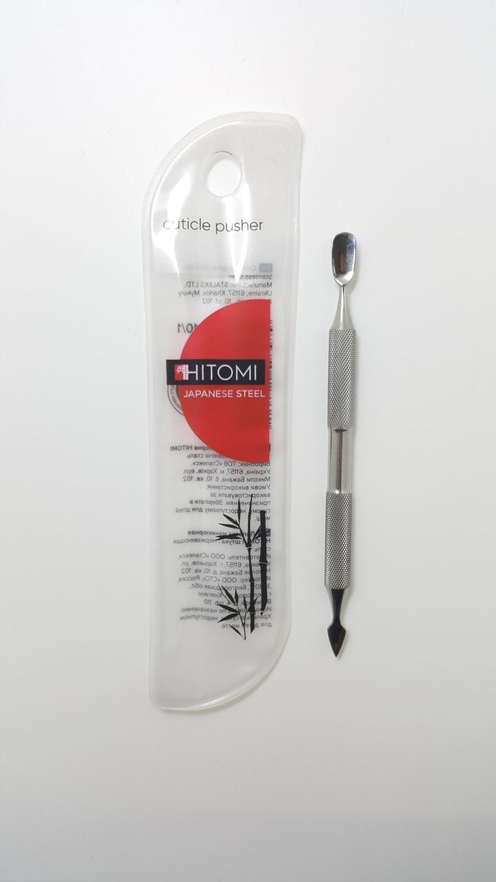Лопатка маникюрная HITOMI (Сталекс) пушер + пика HP-10/1