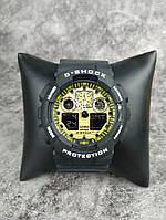Мужские наручные спортивные часы G-Shock серые с желтым Реплика отличного качества, фото 1