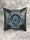 Мужские наручные спортивные часы G-Shock серые с синим Реплика отличного качества, фото 4