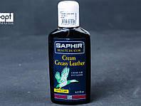 Крем-бальзам для гладкой кожи, жированной кожи и нубука, Saphir Greasy Leather, цв. чёрный