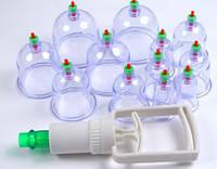Антицеллюлитные вакуумные банки массажные 12 шт с насосом
