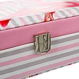 """Шкатулка для украшений """"Flamingo"""" (22.5*14,5*5 см) кожзам 299JH, фото 5"""