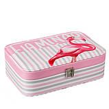 """Шкатулка для украшений """"Flamingo"""" (22.5*14,5*5 см) кожзам 299JH, фото 6"""
