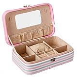 """Шкатулка для украшений """"Flamingo"""" (22.5*14,5*5 см) кожзам 299JH, фото 3"""