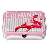 """Шкатулка для украшений """"Flamingo"""" (22.5*14,5*5 см) кожзам 299JH, фото 2"""
