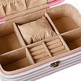 """Шкатулка для украшений """"Flamingo"""" (22.5*14,5*5 см) кожзам 299JH, фото 4"""