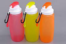 Складная спортивная бутылка из экологически чистого силикона 320 мл S3M, фото 2