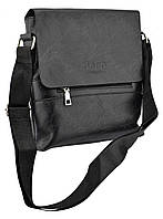 Мужская сумка из эко-кожи JEEP 866 BAGS   сумка через плечо Джип черная