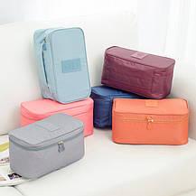 Органайзер для нижнего белья однотонный Gena Travel 01050-02 | дорожная сумка для бюстгалтеров, фото 2