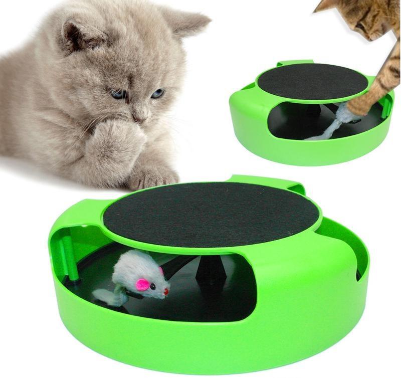 Интерактивная игра для котов с точилкой для когтей Trixie Catch The Mouse | кот и мышь | когтеточка