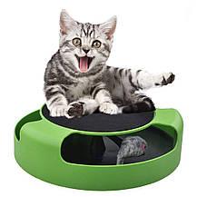 Интерактивная игра для котов с точилкой для когтей Trixie Catch The Mouse | кот и мышь | когтеточка, фото 2