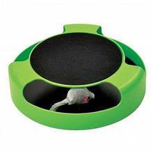 Интерактивная игра для котов с точилкой для когтей Trixie Catch The Mouse | кот и мышь | когтеточка, фото 3