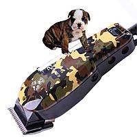 Профессиональная машинка для груминга стрижки животных  Surker SK - 808 + 4 насадки
