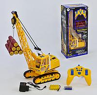 Кран Heavy Crane гусеничный на радиоуправлении аккумулятор 4.8 V Желтый (9992 В)