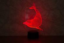 Настольный электрический светильник с 3D эффектом | 3D ночник с объемным оптическим эффектом , фото 3