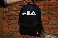 Спортивный рюкзак в стиле Fila школьный для тренировок и городской черный