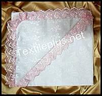 Крыжма уголок бязь с кружевом Textile plus (kod 4355)