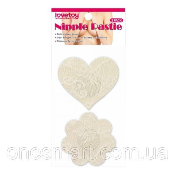 Стікіні мереживне тістечко з сердечком і квіткою (2 шт)