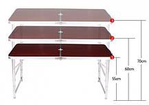 Стол для пикника усиленный с 4 стульями Folding Table (раскладной столик чемодан)  120х60х55/60/70 см , фото 3