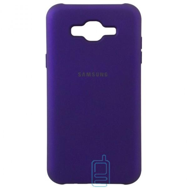 Чехол Silicone Case Full Samsung J5 2015 J500 фиолетовый